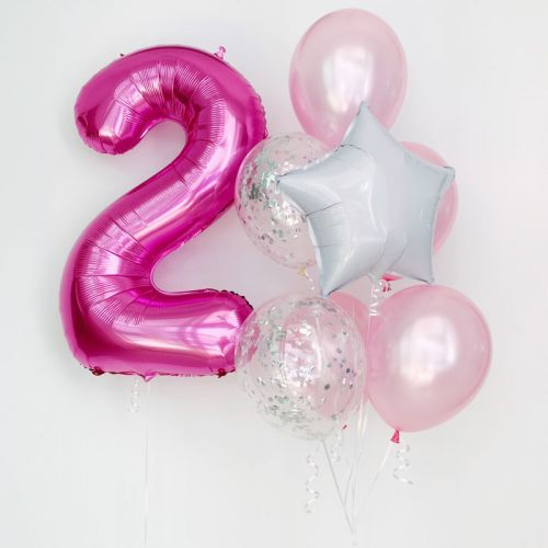 Single Foil Number Balloon Bouquet