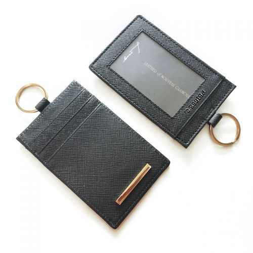 Personalised Genuine Leather Access Card / ID Card Holder