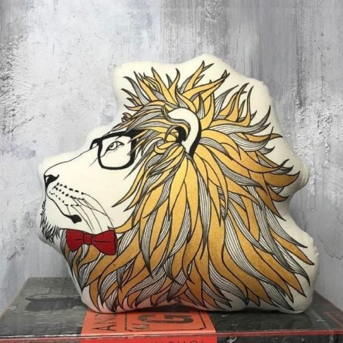 Vigilant Lion Plushy Pillow