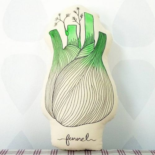 Vegetable Fennel Plushy Pillow