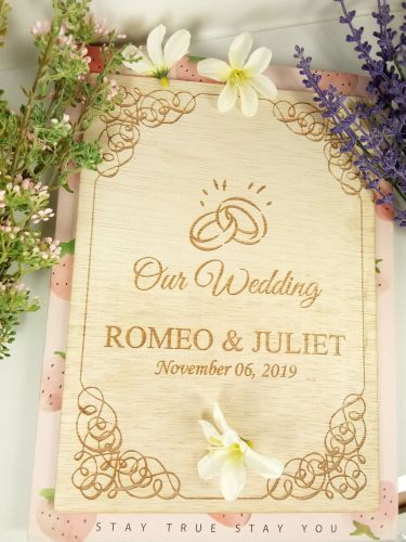 Personalized Wedding Photo Album + Free Engraving