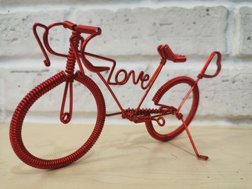Handmade bicycle (iron wire)