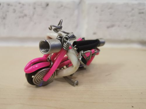 Premium quality handmade motorcycle model (iron wire)
