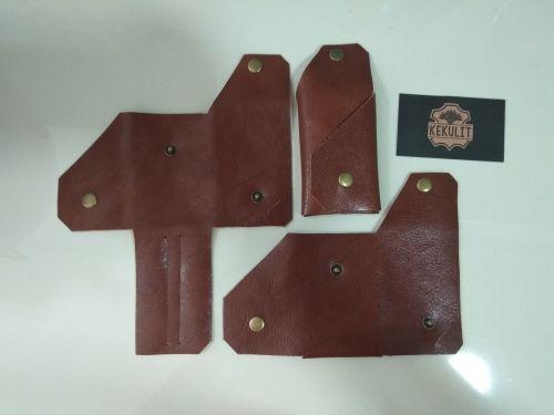 Simple minimalist leather card holder