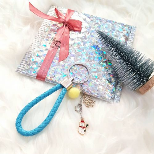 Christmas Key Chain ~ Blue