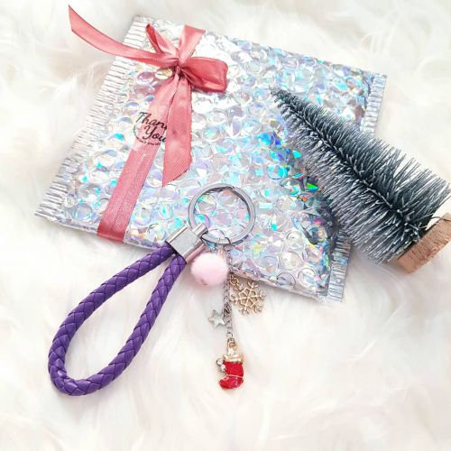 Christmas Keychain ~ Purple