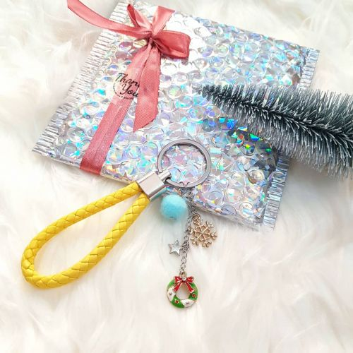 Christmas Keychain ~ Yellow
