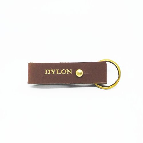 Genuine Leather Key Ring (Free Name Embossing)