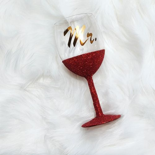 Glitter Wine Glass  - Valencia