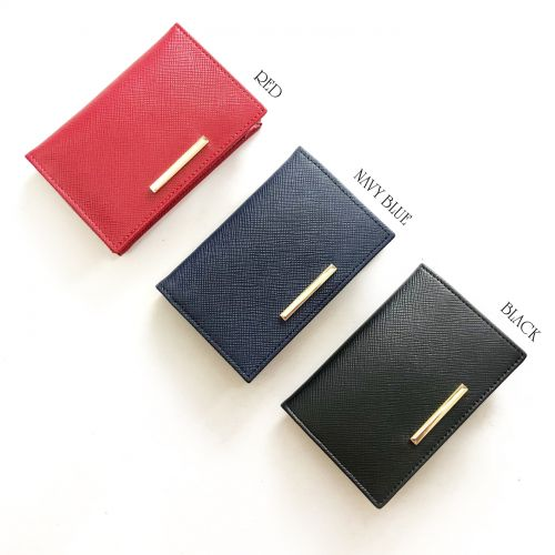 Personalised Genuine Leather BI-fold Card Wallet / Card Holder