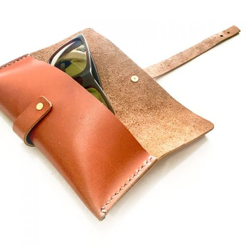 Personalised Leather Spectacles / Sunglasses Pouch