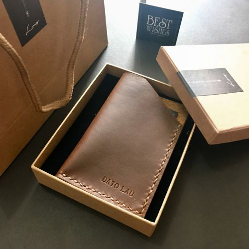 Personalised Essential Leather Card Holder
