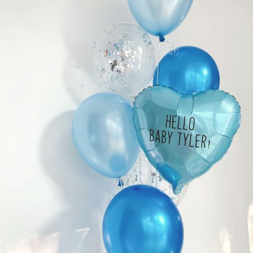 Metallic Heart Helium Balloon Bouquet