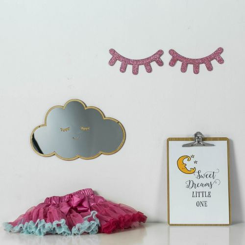 Sleepy Eyelashes - Kids Room Wall Decor