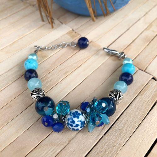Handmade Sea Spirit Cluster Bracelet