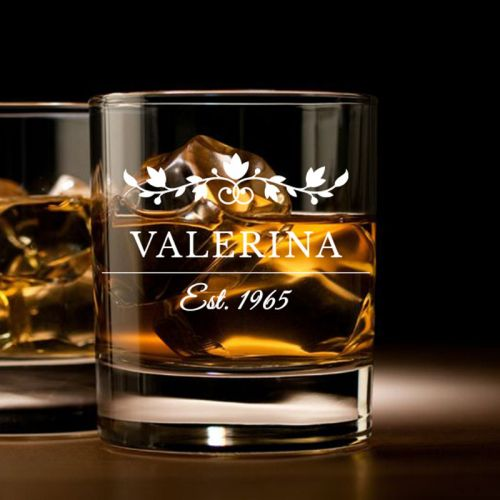 'Insignia' Personalized Rock Glass (Single) -10oz (Vintage Collection)