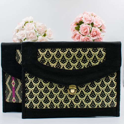 Handmade Rattan Large Clutch/Seminar Bag