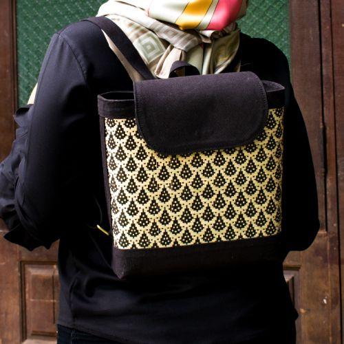 Woven Bamboo Women's Bag Pack