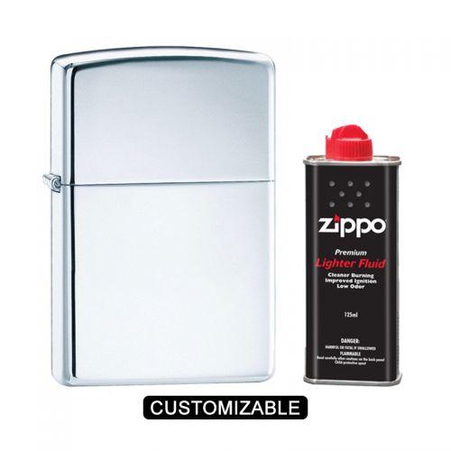 Zippo 250 Classic High Polish Chrome Lighter