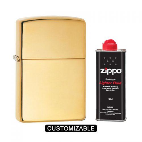 Zippo 254B High Polish Brass Lighter