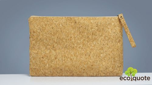 EcoQuote 15 inch Laptop Pouch Sleeve Handmade Cork Eco-Friendly Material Great For Vegan