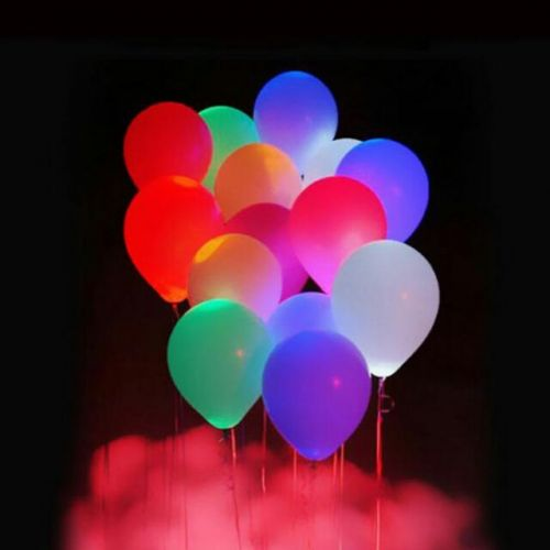 FLASHING LED BALLOON (set of 6 pcs)