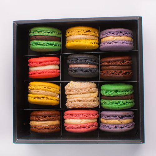 Box of 12 Assorted Macarons