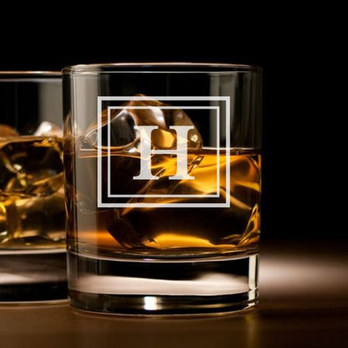 'MINIMAL'' PERSONALIZED ROCK GLASS (SINGLE) 10 OZ