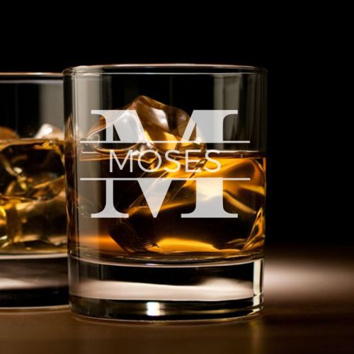 'MONOGRAM'' PERSONALIZED ROCK GLASS (SINGLE) 10 OZ