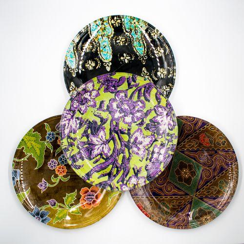 Batik Designed Round Plates
