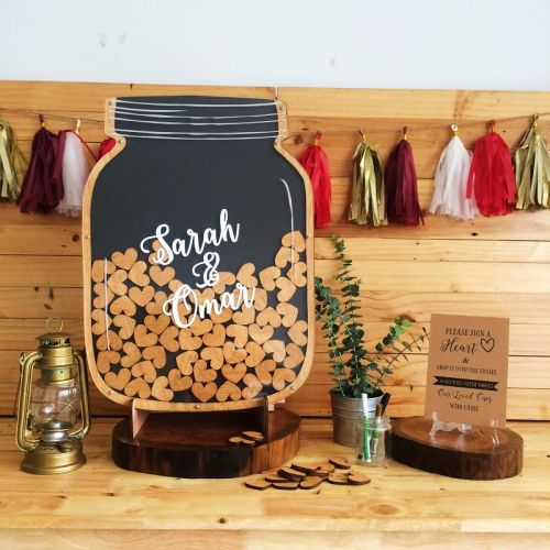 Personalized - Mason Jar Wedding Guestbook - Big