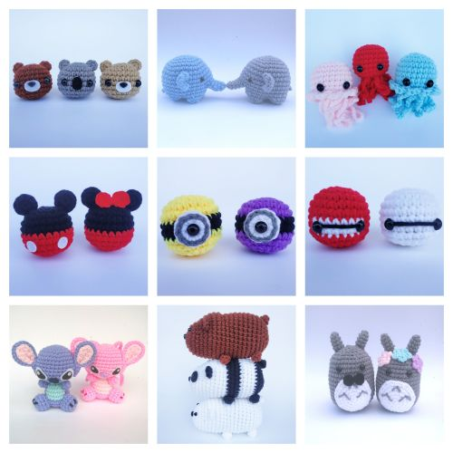 Crochet Character Animal Plushies Dolls