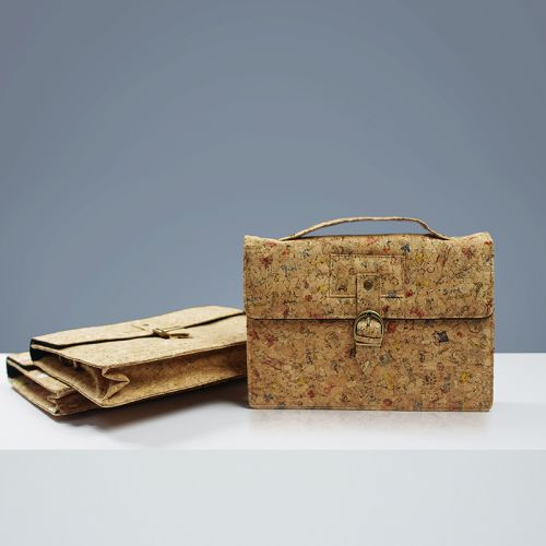 EcoQuote Satchel Style Sling Bag Handmade Cork Eco-Friendly Material, Sustainable & Great for Vegan, Environment Concious Freinds & Unique at Heart