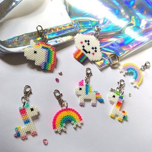 Unicorn Edition Pixel Art Keychain
