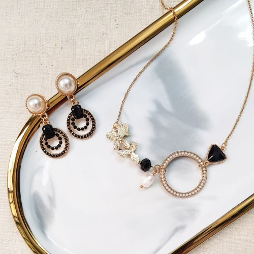 The Exquisite C (Necklace & Earring)