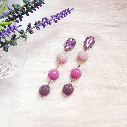 Purple Hue Crystal Earring