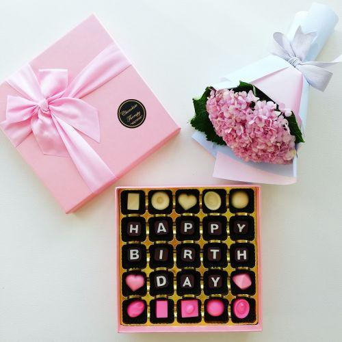 Pink Vibes Chocolate & Hydrangea Set