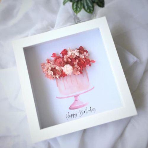 Preserved Flower Frame 0011 -  Happy Birthday