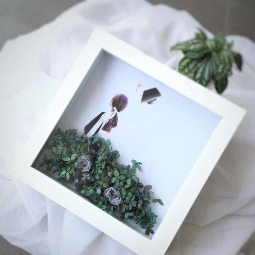 Preserved Flower Frame 0003 - Happy Graduation
