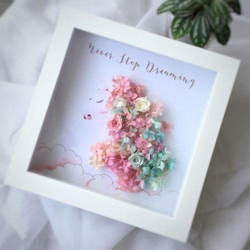 Preserved Flower Frame 0006 - Love Unicorn