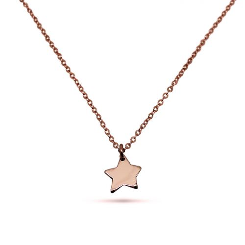 Little Star 9ct Rose Gold Necklace - Free Shipping