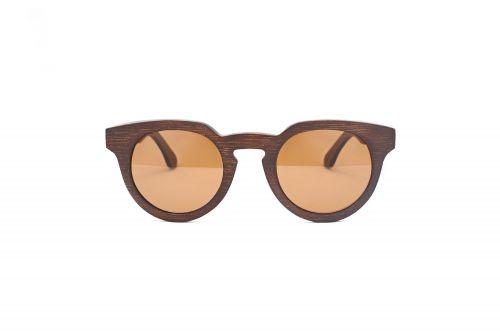 Personalised Round Bamboo (Wood like) Sunglasses C013