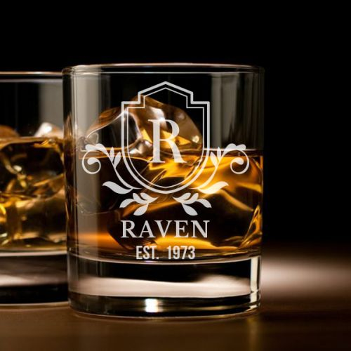 'Royalty' Personalized Rock Glass (Single) -10oz (Vintage Collection)
