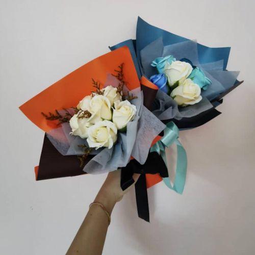 Soap rose mini bouquet
