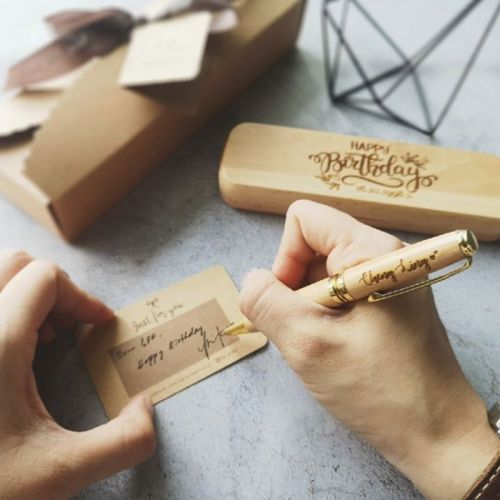 Customised Wooden Pen and Pen Case