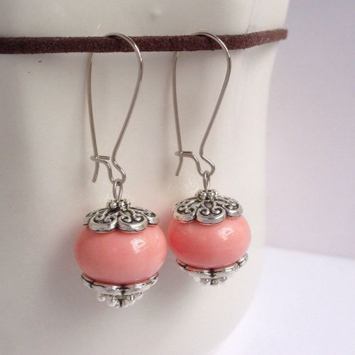 Handcrafted Porcelain Bead Earrings