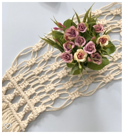 Handmade Macrame Sweet Small Table Runner