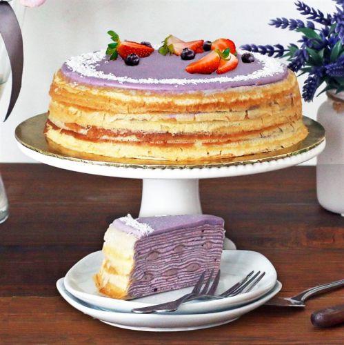 Yam Crepe Cake