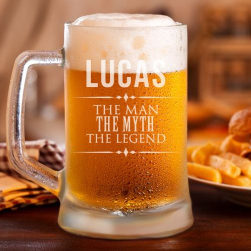 """The Legend"" Personalized Classic Beer Mug"