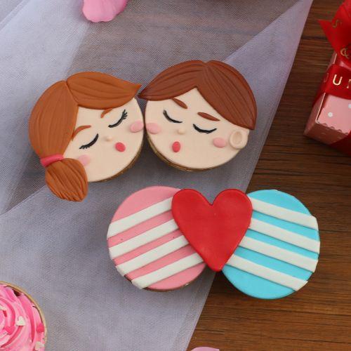 Valentine's Cupcakes (4 pcs)